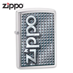 Zippo Brushed Chrome Embellished Windproof Lighter