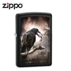 Zippo Black Raven Licorice Matte Lighter