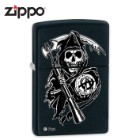 Zippo Sons Of Anarchy Skull Sickle Grim Reaper Black Matte Windproof Lighter