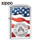 USA Flag And Seal Zippo Lighter
