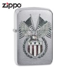 Zippo Classic Bald Eagle And Flags Lighter