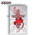 Zippo Cross With Red Accents Lighter