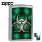 Zippo Biohazard Green Street Chrome