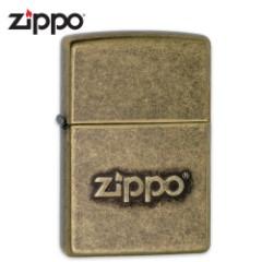 Zippo Antique Brass Logo – Lighter