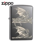 Zippo Laser Engraved Dragon Black Ice