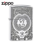 Zippo Etched Dragon Armor Polish Chrome