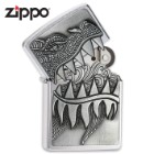 Zippo Dragon With Open Lid Teeth and Flame