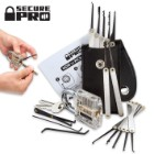 Secure Pro Practice Padlock and 15-Piece Lock Pick Set