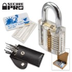 Secure Pro Practice Lock Kit With Credit Card Lock Pick Set