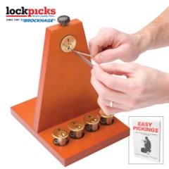 Secure Pro Lockpicking School Kit - Lock Picking Guide, Keyed Practice Locks, Lock Picking Tools, Master Key