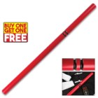 Red Hardwood Escrima Fighting Stick - BOGO