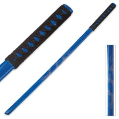 Blue Dragon Wooden Bokken Samurai Sword