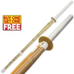 Kendo Bamboo Shinai Practice Sword 2 For 1