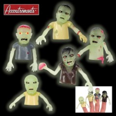 Glow Finger Zombies Finger Puppets