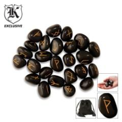 Viking Magic Rune Stones Pouch of 24