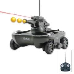 Remote Controlled RC Amphibious Tank Green