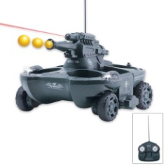 Remote Controlled RC Amphibious Tank Gray