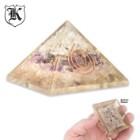 Amethyst Crystal Rose Orgone Pyramid