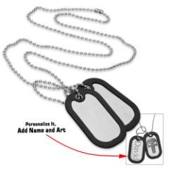 Engraveable GI Dog Tags With Silencer