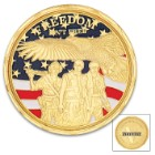 Veteran Tribute Challenge Coin - Crafted Of Metal Alloy, Detailed 3D Relief On Each Side, Collectible - Diameter 1 5/8""