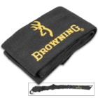 Browning Vapor Corrosion Inhibitor Gun Sock - Black Polyester Knit Construction, Drawstring Closure, One Size Fits Most