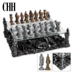 Premium Sculptured Medieval Chess Set