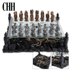 Premium Sculptured Dragon Chess Set