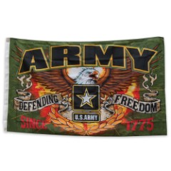Army Defending Freedom Flag
