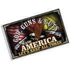 Freedom First Flag God, Guns & Guts