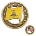 Gadsden Flag Cut-Out Coin