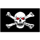 Jolly Roger / Skull and Crossbones Pirate With Red Eyes 3' x 5' Polyester Flag
