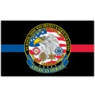 American Heroes Civil Servants Tribute Flag - Firefighters / Law Enforcement / EMS - 3' x 5