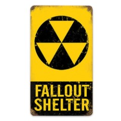 Fallout Shelter Steel Sign