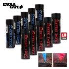 Wire Pull Smoke Grenades Red And Blue 10-Pack