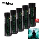 Wire Pull Smoke Grenades Green 5-Pack