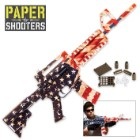 Paper Shooters Patriot Tactical Rifle-Style American Flag Skin Paper Gun and Ammo Construction Kit