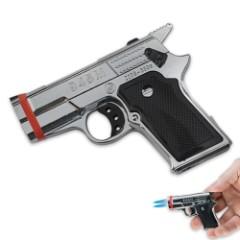 Dual Flame Pistol Lighter
