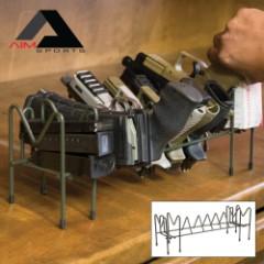 AIM Sports Pistol / Magazine Organizer Rack - 6 Handgun Slots, 2 Magazine Slots