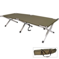 HD Folding Aluminum Cot With Carry Bag