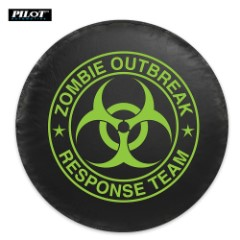 Green Zombie Spare Tire Cover - Small