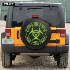 Green Zombie Spare Tire Cover - Large