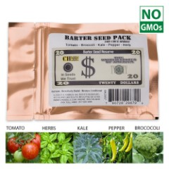 Barter Seed Pack - Survival Heirloom Non-GMO 4,300 Seeds