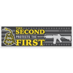 """""""The 2nd Protects the 1st"""" Bumper Sticker"""