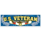 """US Veteran"" Bumper Sticker"