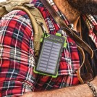 8000 MAH Solar Charger With Carabiner