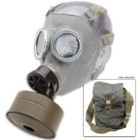 Surplus Polish MC-1 Gas Mask w/ Filter and Camo Bag