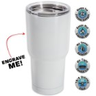 Large Double Walled Matte White Insulated Tumbler- 30 Oz