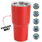 Large Double Walled Matte Red Insulated Tumbler- 30 Oz