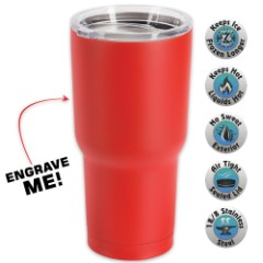 Large Double Walled Matte Red Insulated Tumbler– 30 Oz