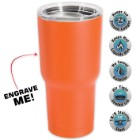 Large Double Walled Matte Orange Insulated Tumbler - 30 Oz